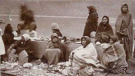 Un campo di commercianti indiani