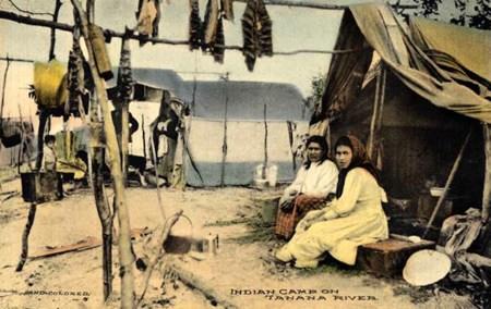 Un campo estivo dei Chippewa