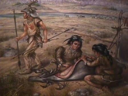 Famiglia di indiani della zona del Labrador