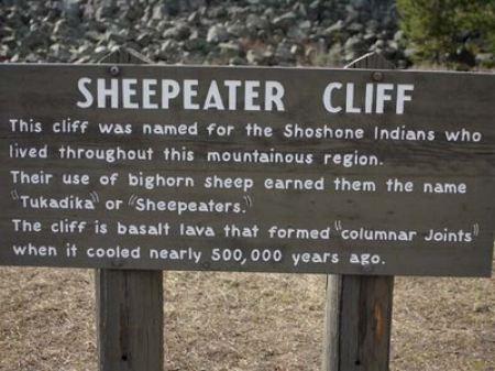 Qui si ricorda la presenza degli Sheepeater