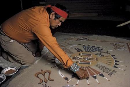 "Uno ""sand-painter"" Navajo"